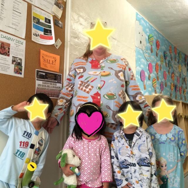 先生のパジャマの柄がおもしろい!